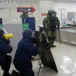 富山県警が富山空港で爆発物対応訓練等を実施