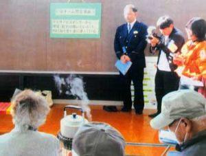 長崎県対馬北署が認知症高齢者の声掛け訓練に協力