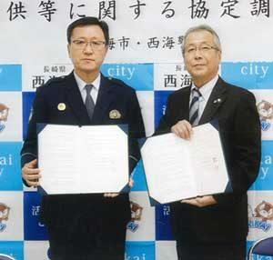 長崎県西海署が西海市とドラレコ映像提供の協定を締結