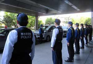 熊本県警が休業店舗等の特別警戒活動