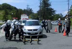 広島県山県署と島根県浜田署で通信指令・初動対応訓練