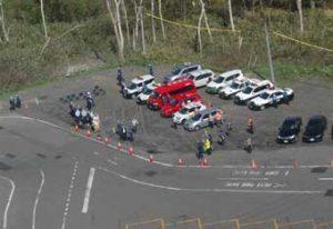北海道倶知安署が関係機関と合同で山岳・山菜遭難防止の啓発活動