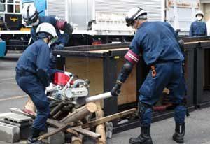 岐阜県大垣署で災害警備訓練を実施