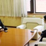 鳥取県警の津田本部長が米子市長と会談