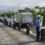 佐賀県警察学校の初任科生で制服姿の「ブルーライン作戦」