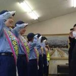 富山県黒部署が女子バレーボールチームを安全安心PR隊に委嘱
