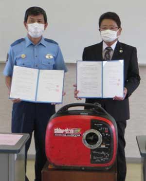 滋賀県木之本署が県建設業協会伊香支部と災害時の信号機復旧協定結ぶ