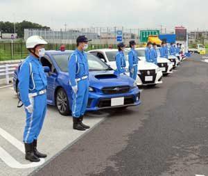 埼玉県警で夏の交通事故防止運動の出発式を実施
