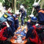 滋賀県木之本署が消防と合同で山岳遭難訓練