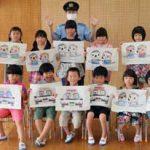 高知県安芸署が保育園で「ぬり絵交通安全教室」