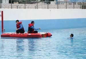 埼玉県久喜署と杉戸署で水難対処訓練を実施