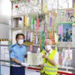 愛知県中村署に住民が七夕の笹を寄贈