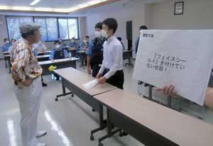 島根県川本署で若手対象の実戦的総合訓練を実施