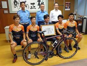 広島県広島中央署で自転車のマナーアップキャンペーン