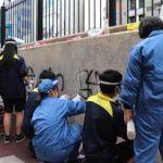 神奈川県戸部署が高校生と落書き消し等の地域貢献活動