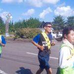 青森県外ヶ浜署でたすきでつなぐ交通安全啓発イベント