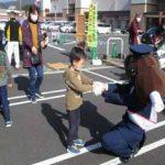 岐阜県中津川署の公認キャラ「御用の五平」着ぐるみが啓発イベントでお目見え