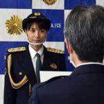 岐阜県可児署がビーチバレー・浅尾美和さんと年末特別警戒出発式