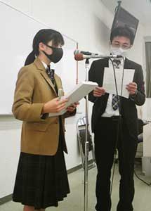 三重県津署で地元中・高放送部員収録のメロディパトロールを実施