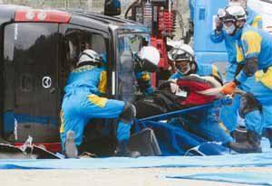 兵庫県警で総合災害警備訓練を実施