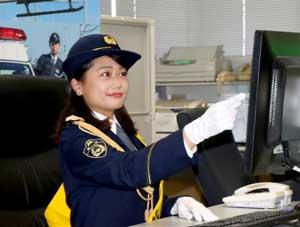 宮崎県警でテレビ体操の原川愛さんが110番の日広報