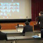 沖縄県警でWEB会議方式の署長会議開く