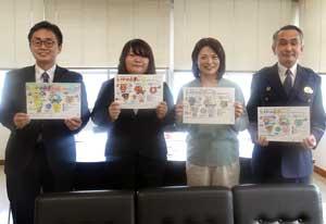 佐賀県武雄署で塗り絵を通じた防犯指導