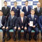 福岡県中央署が県宅建協会中央支部からドアスコープカメラの寄贈受ける