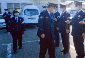 長崎県西海署で異動後初の通常点検を実施
