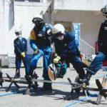 兵庫県警が警察センターで災害警備訓練