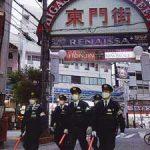 兵庫県生田署でまん延防止等重点措置の繁華街を特別警戒