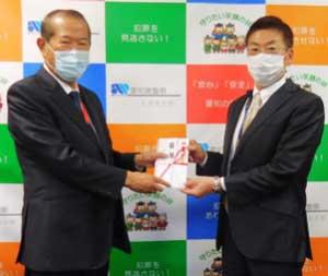 愛知県警が県警備業協会から迷惑電話防止機能付き電話機の寄贈受ける