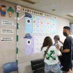 愛知県天白署で園児が作った交通安全こいのぼり掲げる