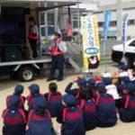 熊本県上天草署で中学1年生対象の自転車安全教室開く