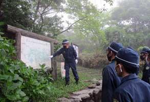 佐賀県小城署が天山山系で災害警備訓練
