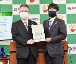 遠藤顕史本部長と杉本達治県知事が共同記者会見