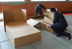 岐阜県多治見署で「段ボール製の簡易ベッド」導入