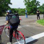 愛知県西署で自転車配達員の実技講習会
