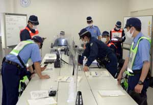 鳥取県鳥取署で大規模災害対処の実践的総合訓練