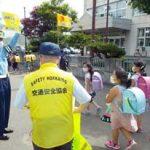 札幌方面手稲署が小学校の通学路で交通安全啓発活動