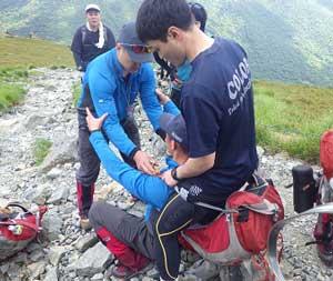 岩手県遠野署で花の名山・早池峰山で山岳遭難救助訓練