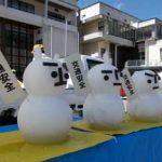 岐阜県飛騨署が「真夏の雪だるま」で事故防止キャンペーン