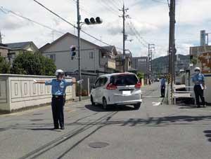奈良県奈良署が交通規制等総合訓練を実施