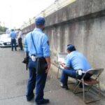 福岡県久留米署と佐賀県鳥栖署が合同で県道の速度違反取締り