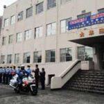 福岡県大牟田署で地域安全運動の看板設置と出発式